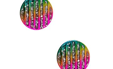 Go to Product: Rainbow & Glitter Striped Stud Earrings