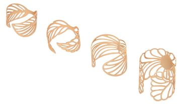 Go to Product: Gold Filigree Rings - 4 Pack