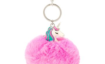Go to Product: Miss Glitter the Unicorn Pom Pom Keychain - Purple