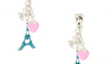 Go to Product: Glitter Eiffel Tower Clip On Earrings - Blue