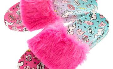Go to Product: Ombre Unicorn Power Fur Slide Sandals