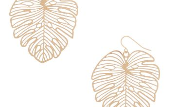 "Go to Product: Gold 1.5"" Palm Leaf Drop Earrings"