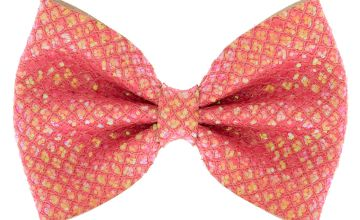 Go to Product: Mermaid Shine Hair Bow Clip - Coral Pink