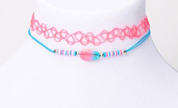 Go to Product: Blue, Pink, & Purple Cowrie Shell Choker Necklaces - 2 Pack