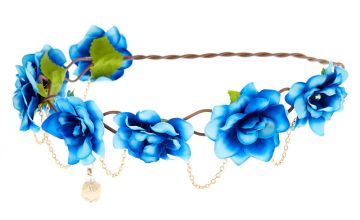 Go to Product: Gold Chain Ombre Flower Crown - Blue