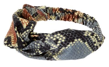 Go to Product: Snakeskin Twisted Headwrap - Brown