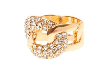 Go to Product: Gold Embellished Chain Link Ring