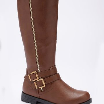 Zip and Buckle Tall Boots