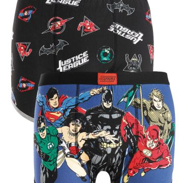 DC Justice League Pack of 2 Boxers
