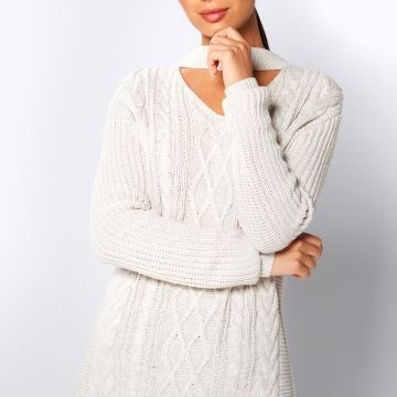 Choker Cable Knit Jumper