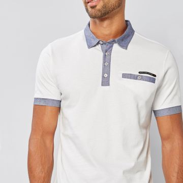 Duck and Cover Contrasting Collar Polo Shirt