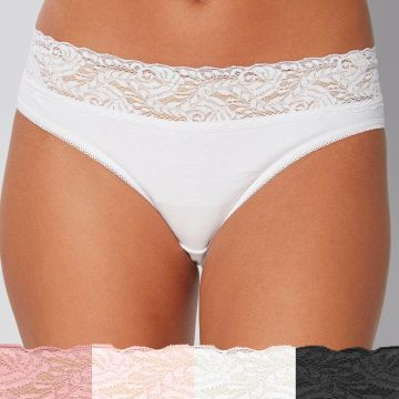 Pack of 4 Lace Top Briefs
