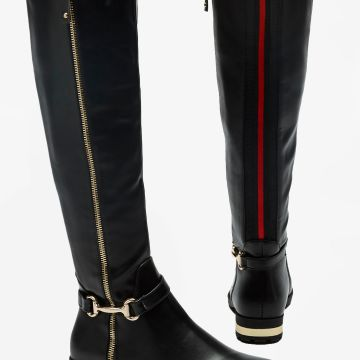 Stripe Back Zip Tall Boots