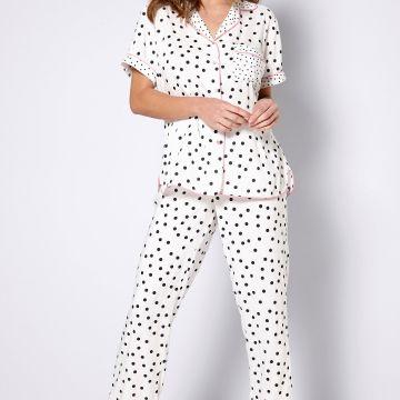Spotty Boxy Shirt Trouser Pyjamas