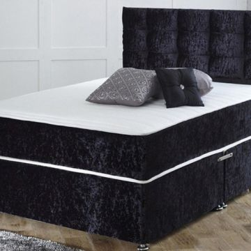 From £99 instead of £399 (from Dining Tables) for a crushed velvet divan bed with mattress - choose from six sizes and either zero, two or four drawers and save up to 75%