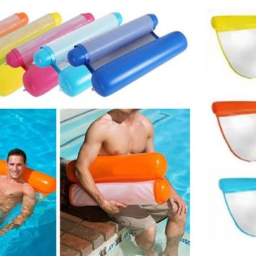 £6.99 instead of £25.99 (from Hey4Beauty) for an inflatable fold-up pool bed - choose from five colours save 73%