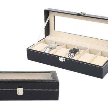 £12 instead of £39.99 (from Blu Fish) for faux leather watch box - save 70%