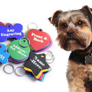 £2.99 instead of £15 (from Engraving Brothers) for a personalised aluminium pet jewellery tag with two-sided engraving - choose from 10 designs in five colours and save 80%