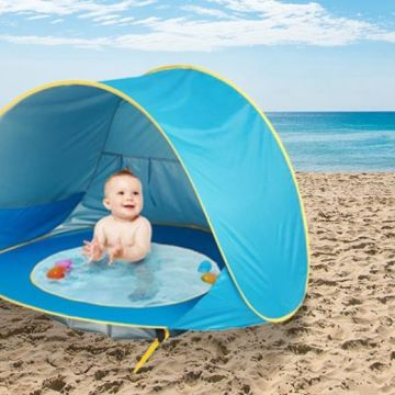 £12.99 instead of £39.99 (from LitnFleek) for a baby beach pop-up tent with sunshade - save 68%