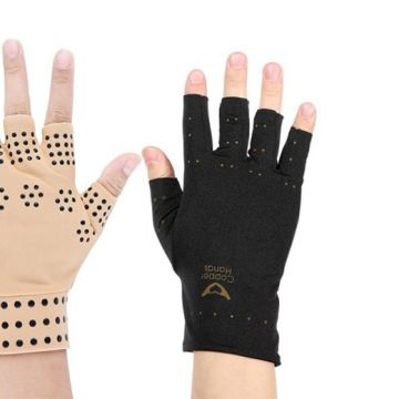 £3.99 (from DomoSecret) for a magnetic compression glove, or £6.99 for a matching pair - choose from two colours
