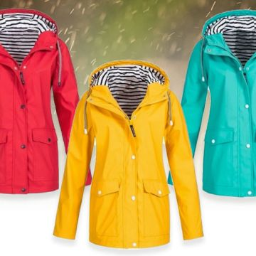 £12 instead of £39.99 (from Domo Secret) for a women's waterproof double layer rain coat - choose from seven colours and eight sizes and save 70%