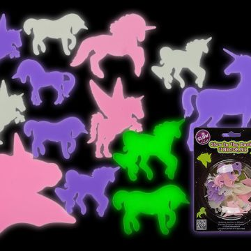 pack of 14 glow in the dark unicorns