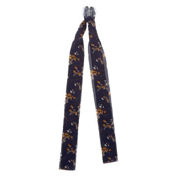 Go to Product: Draped Scarf Floral Hair Bow Claw - Navy