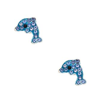 Go to Product: Silver Dolphin Magnetic Stud Earrings - Blue