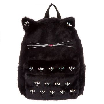 Go to Product: Plush Gem Cat Backpack - Black