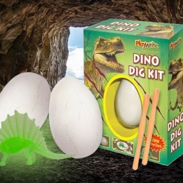 £4.99 instead of £14.99 for a 'Dig It Out' Dinosaur Fossil Egg from London Exchain Store - save 67%