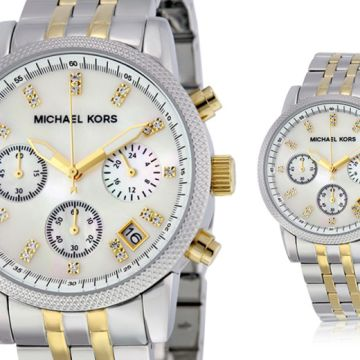 £99 instead of £242.01 (from Cheap Designer Watches) for a Michael Kors MK5057 ladies Ritz two-tone watch - save 59%