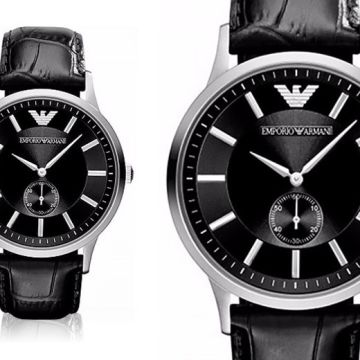 £109 instead of £243.01 (from Cheap Designer Watches) for a men's Emporio Armani AR9100 black leather watch - save 55%