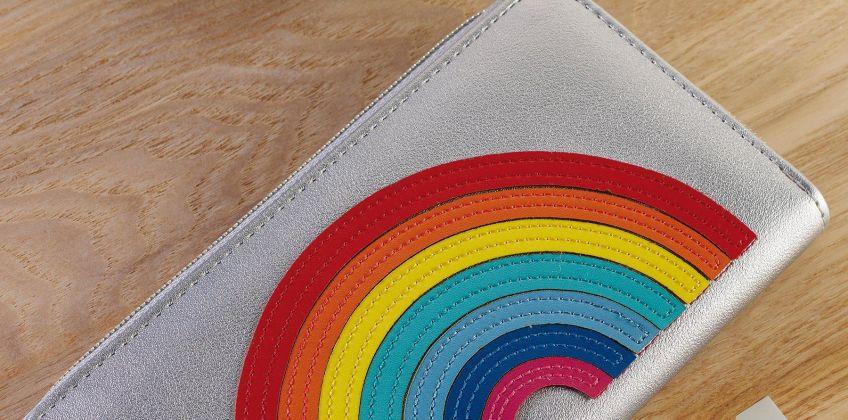 Rainbow Zip Around Purse from Studio