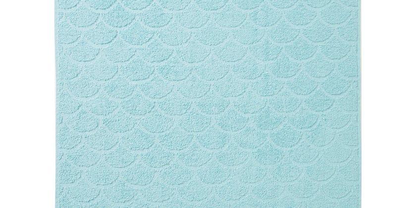 Aqua Sculpted Border Towels from Studio