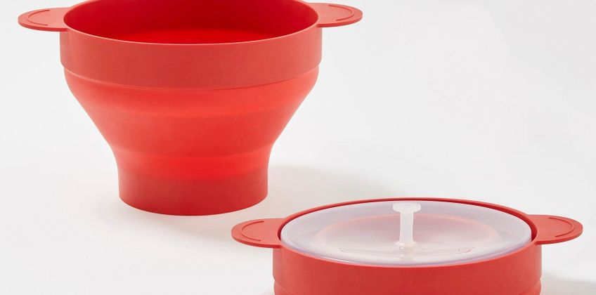Collapsible Silicone Microwave Popcorn Maker from Studio