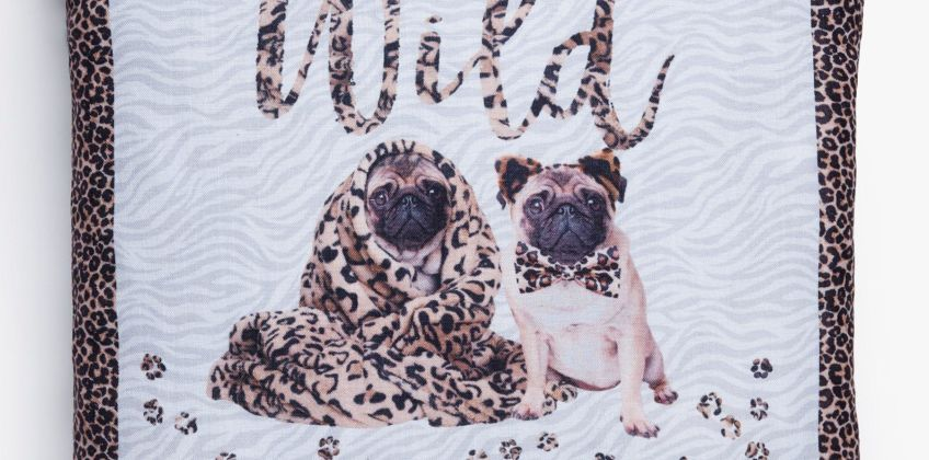 Born To Be Wild Pug Cushion Cover from Studio