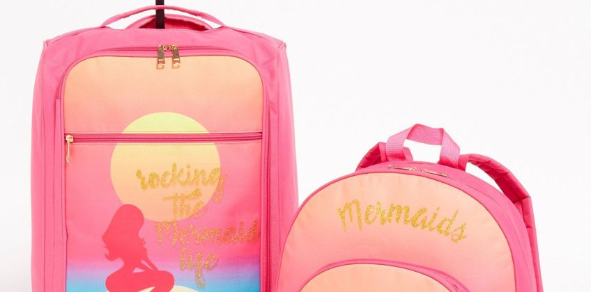 Mermaid Trolley 2-Piece Luggage Set from Studio
