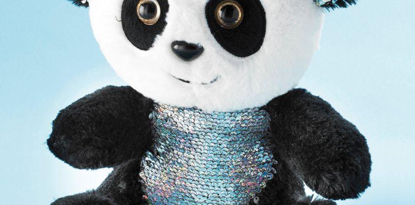 Reversible Sequin Panda Plush from Studio