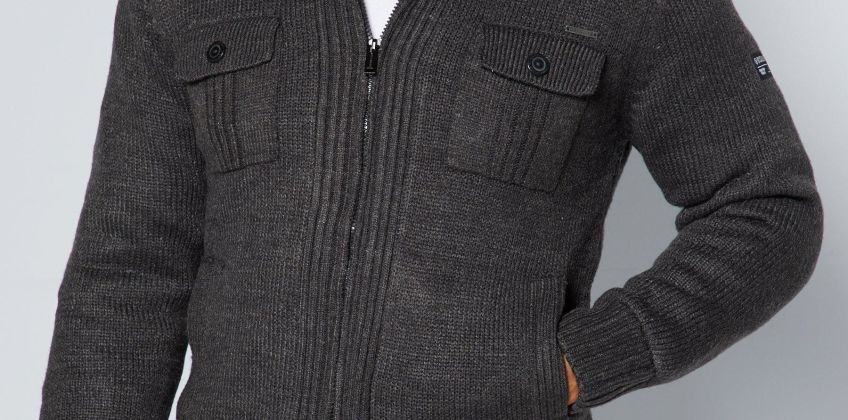 Dissident Lined Knit Sherpa Jacket from Studio