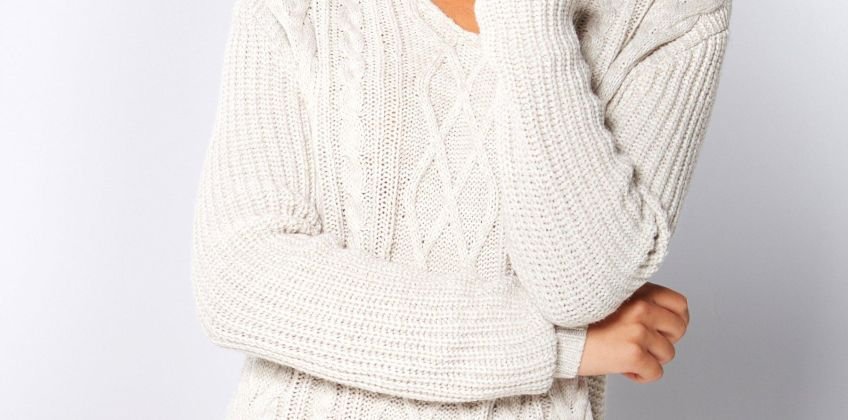Choker Cable Knit Jumper from Studio