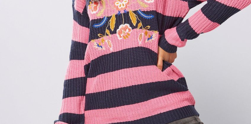 Brave Soul Embroidered Jumper from Studio