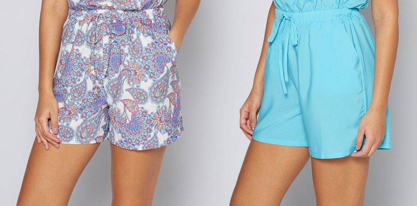 Pack of 2 Blue + Paisley Print Bandeau Playsuits from Studio