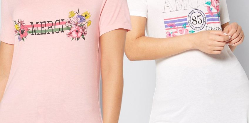 Pack of 2 Amour and Merci Graphic T-Shirts from Studio
