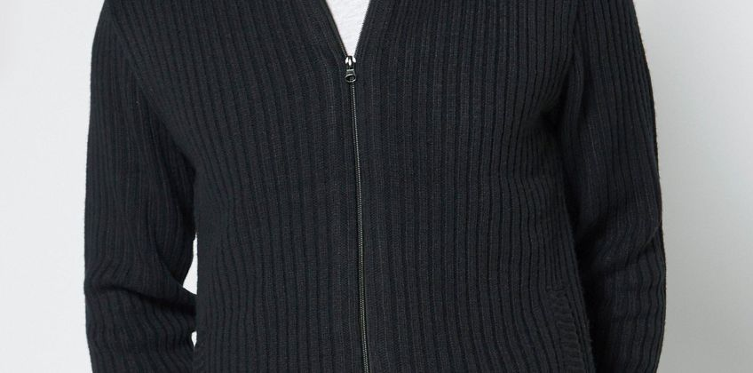 Borg Lined Hooded Zip Through Jumper from Studio