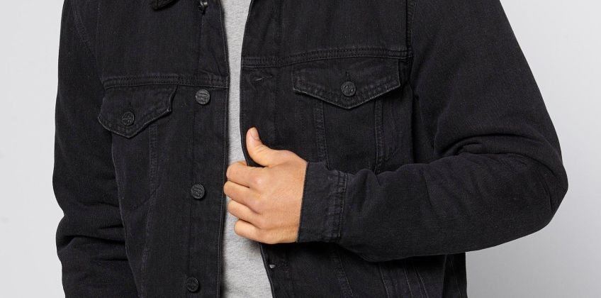 Only and Sons Borg Lined Denim Jacket from Studio