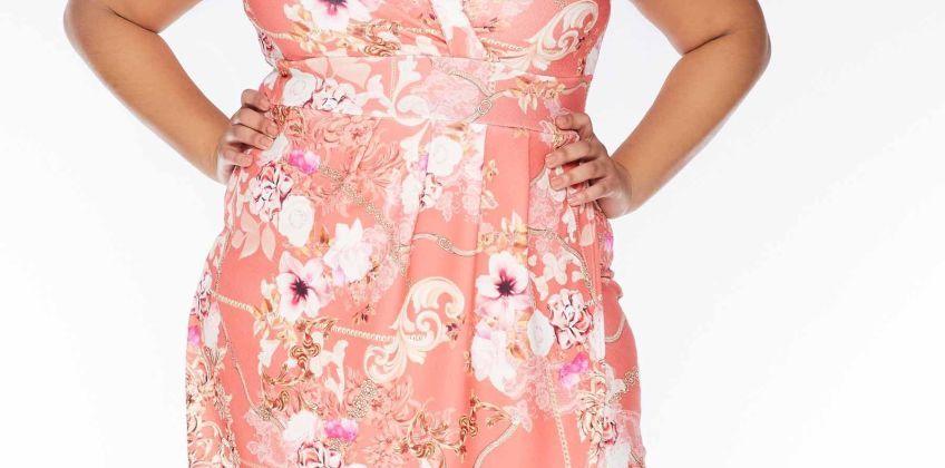 Quiz Curve Floral Printed Wrap Dress from Studio
