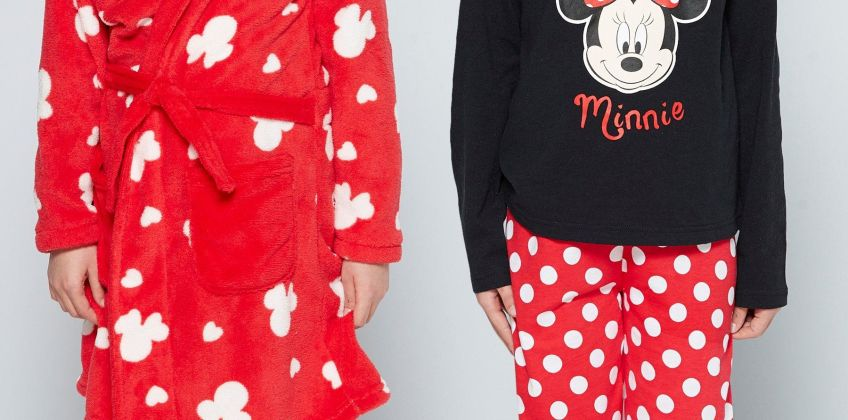 Older Girls Minnie Mouse Pyjamas and Robe Set from Studio