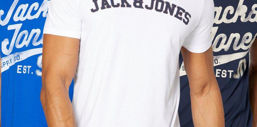 Jack and Jones 3 Pack Script T-Shirt from Studio
