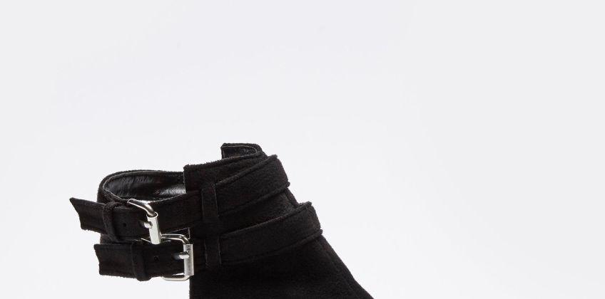 Twin Buckle Block Heel Shoe Boots from Studio
