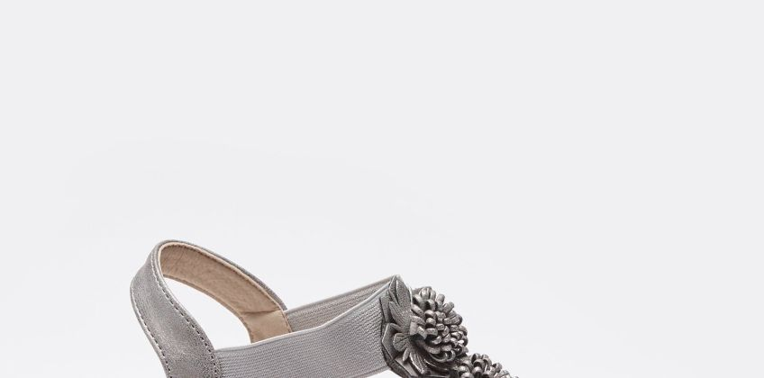 Comfort Plus T-Bar Floral Kiara Wedge Shoes from Studio